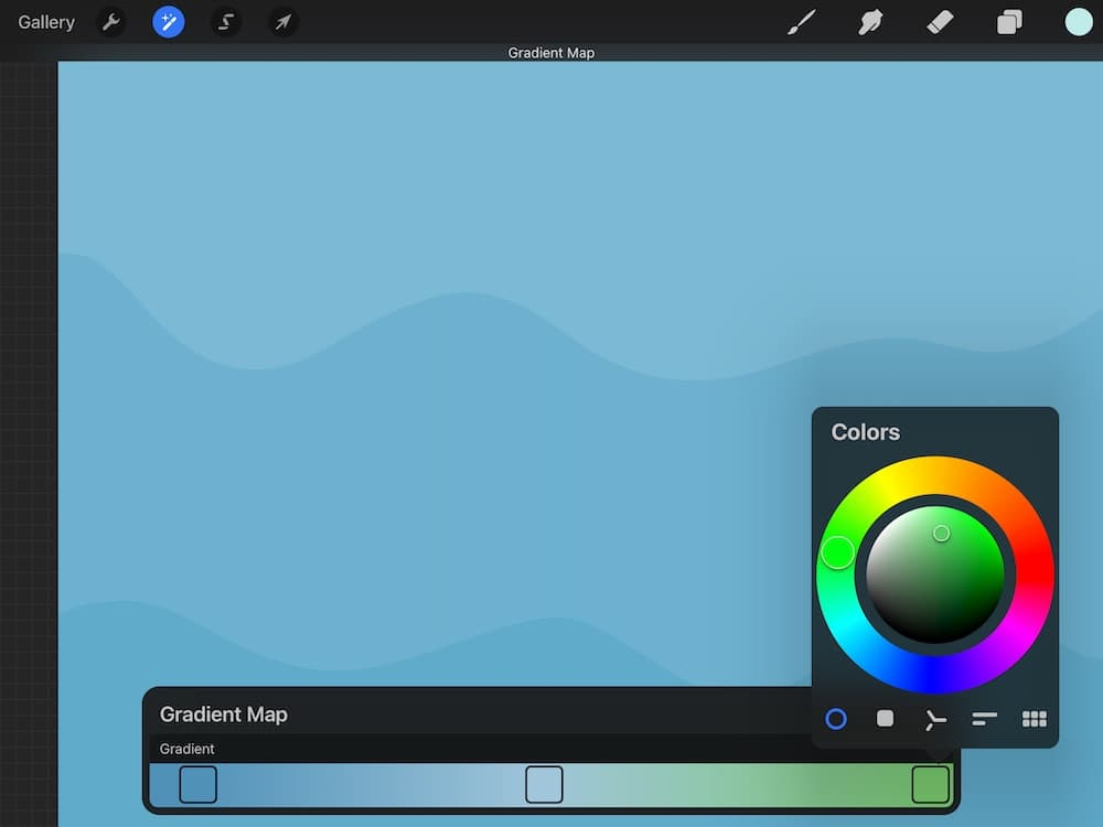 making gradient color palette in Procreate