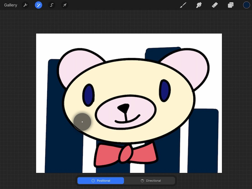adding blur to background of illustration of bear