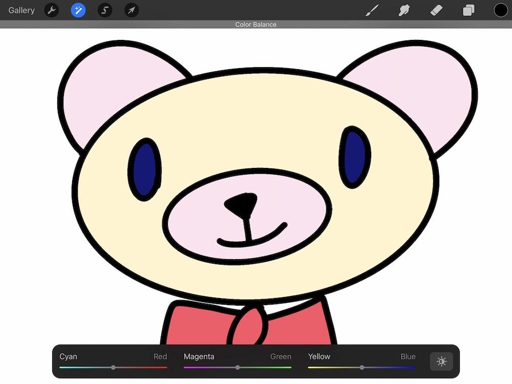 drawing of bear screenshot