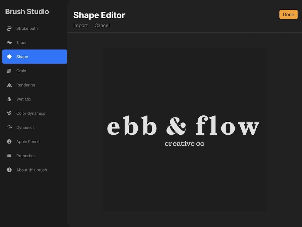 inverting image to make logo brush