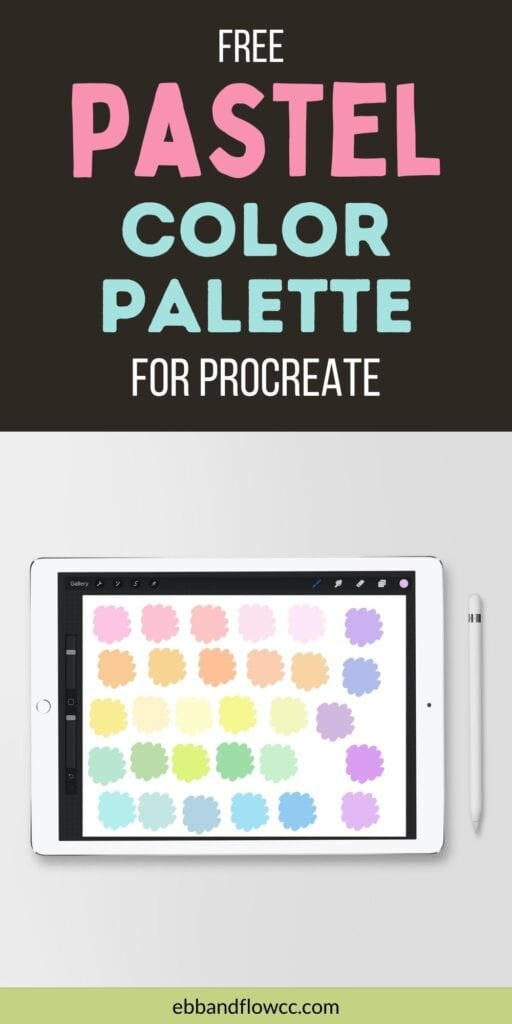pin image - ipad with pastel color swatches