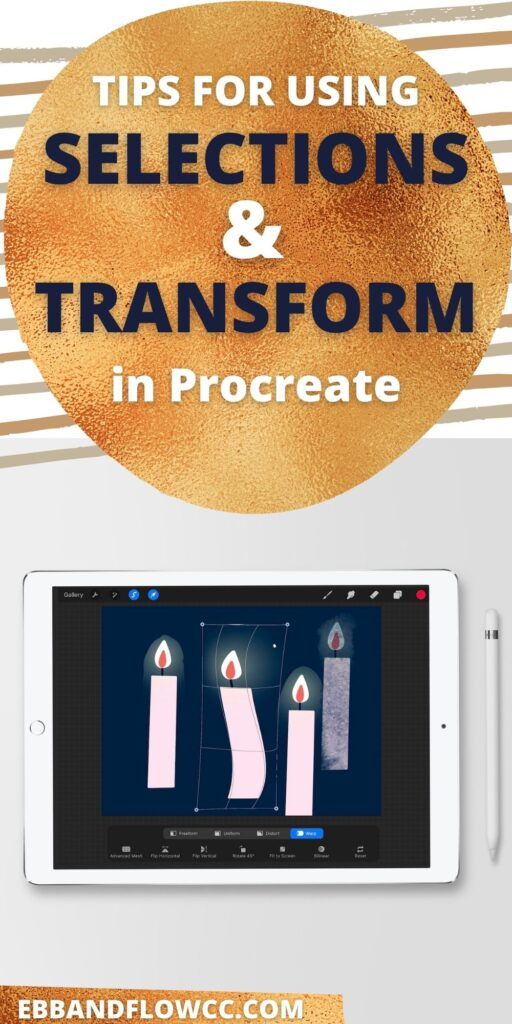 pin image - ipad with illustration of candle