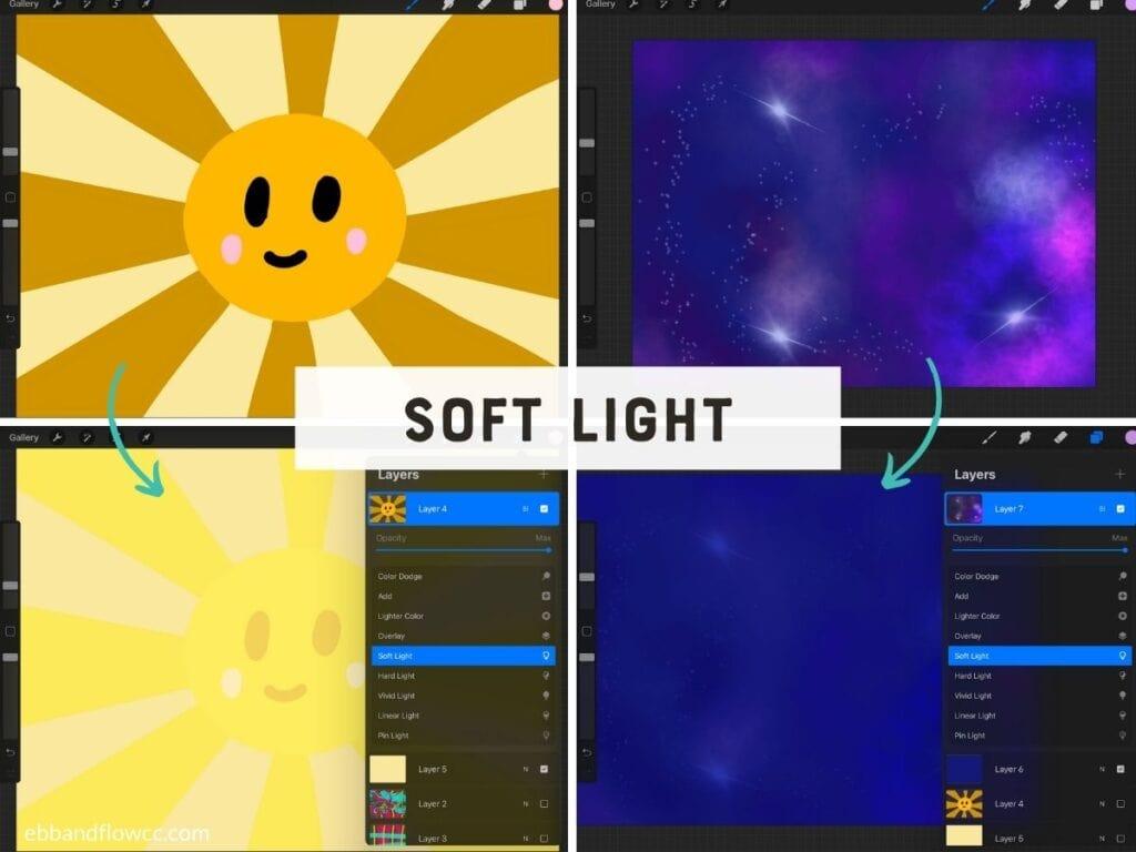 soft light mode in illustrations
