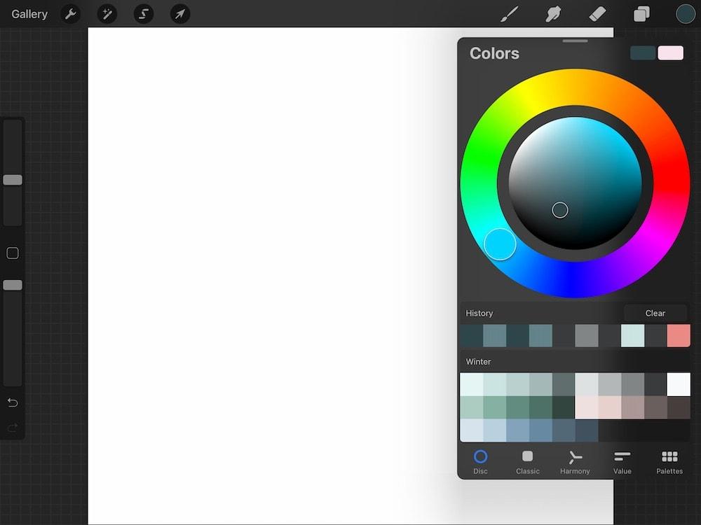 color wheel screenshot
