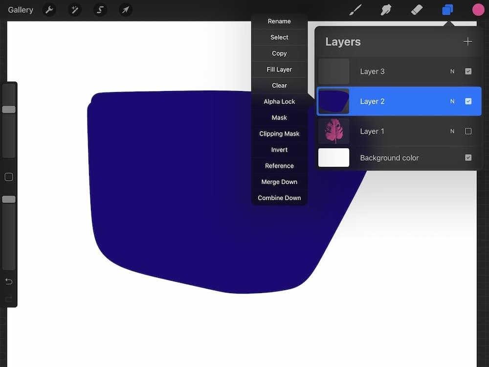 inverted colored shape screenshot