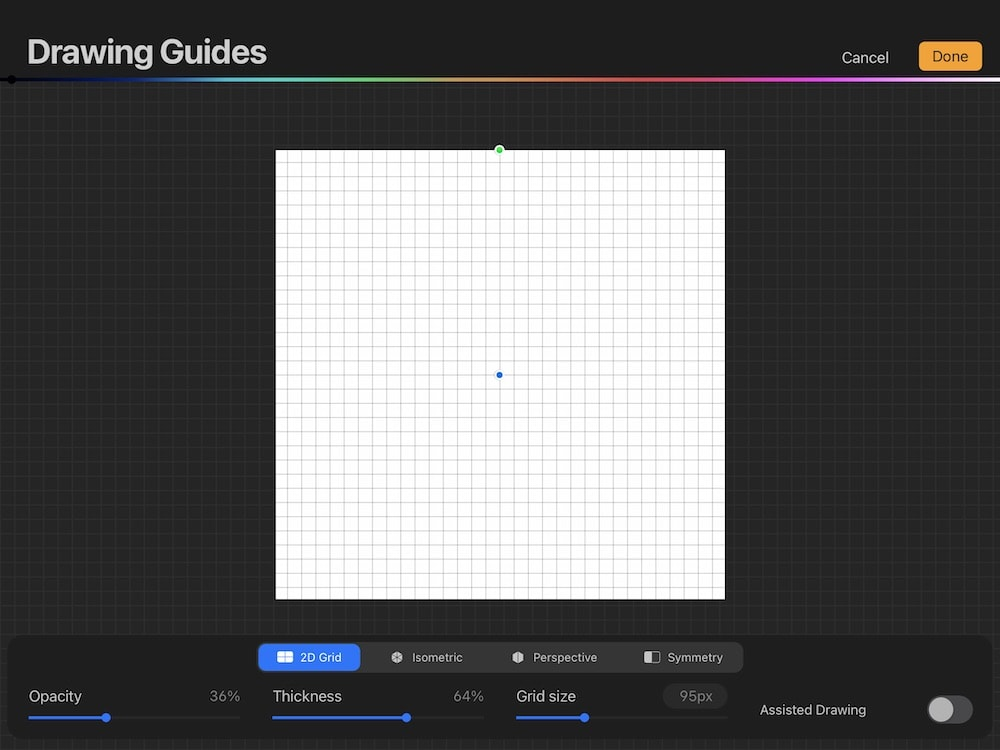 drawing guide in procreate