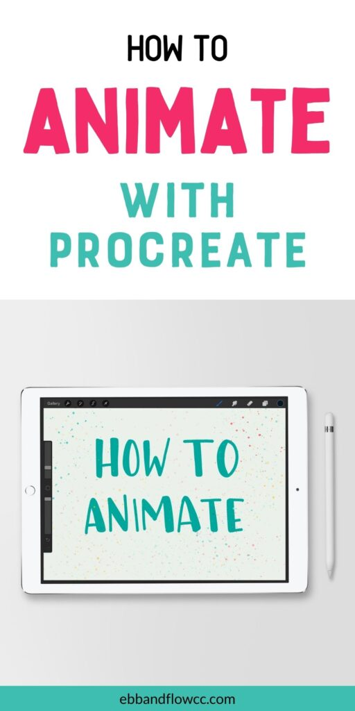 ipad with lettering: How to animate