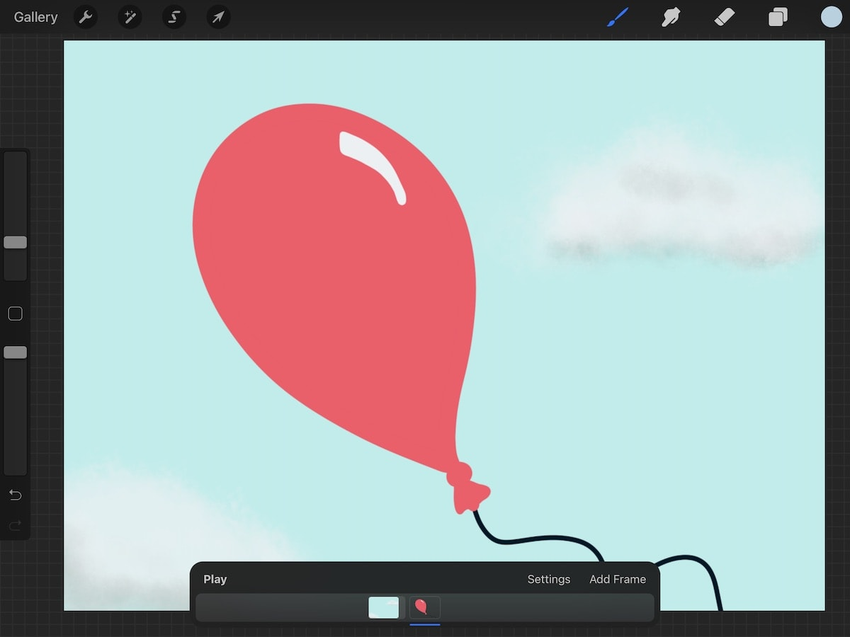 illustration of balloon in blue sky