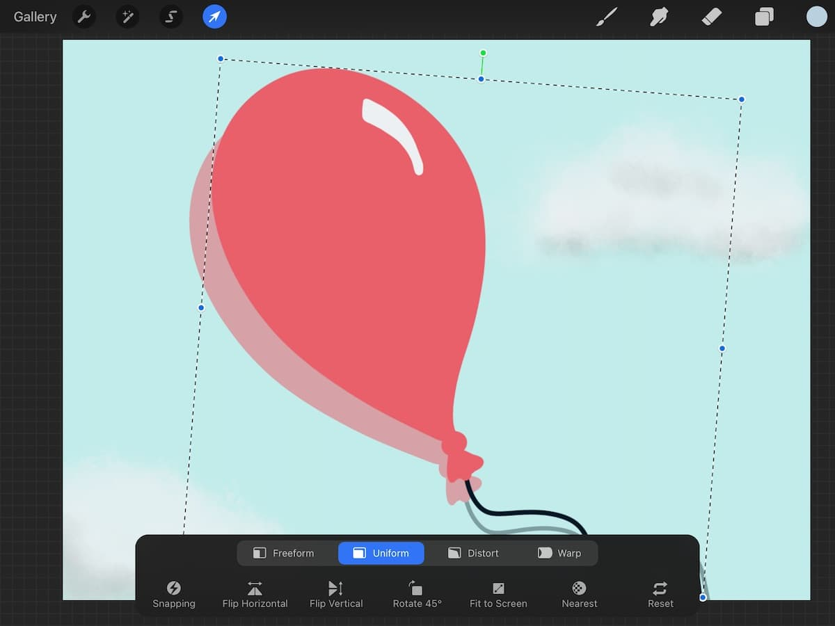 moving balloon layer for animation