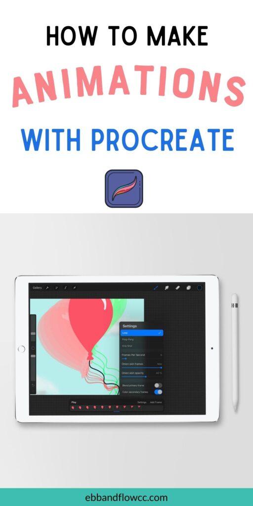 pin image - ipad with balloon illustration