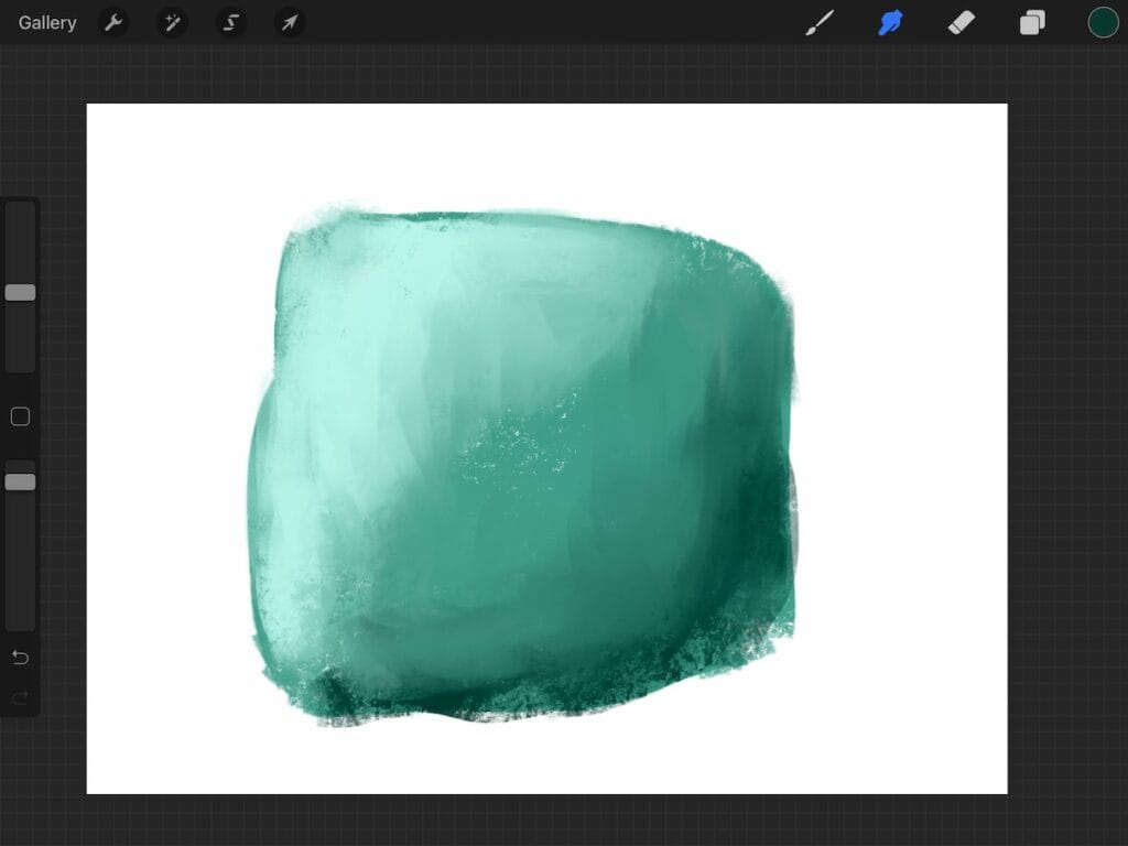 using a textured brush for blending in procreate