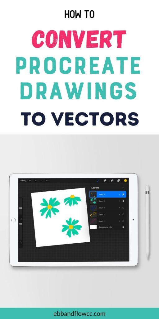 ipad with flower illustration