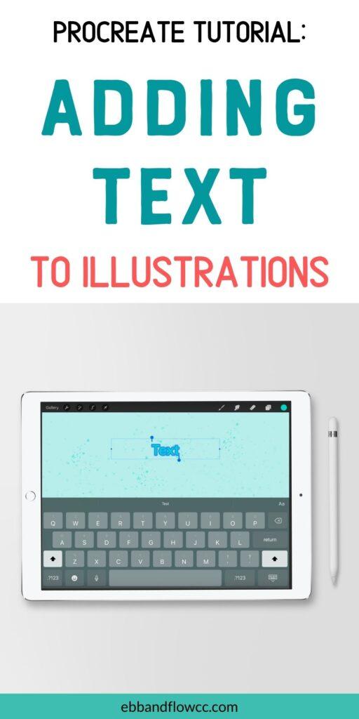 screenshot of Procreate text