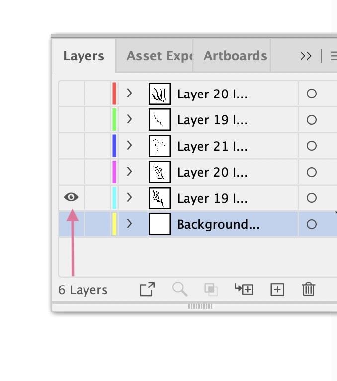 hiding layers in illustrator