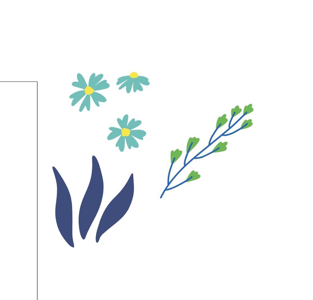 floral elements in illustrator