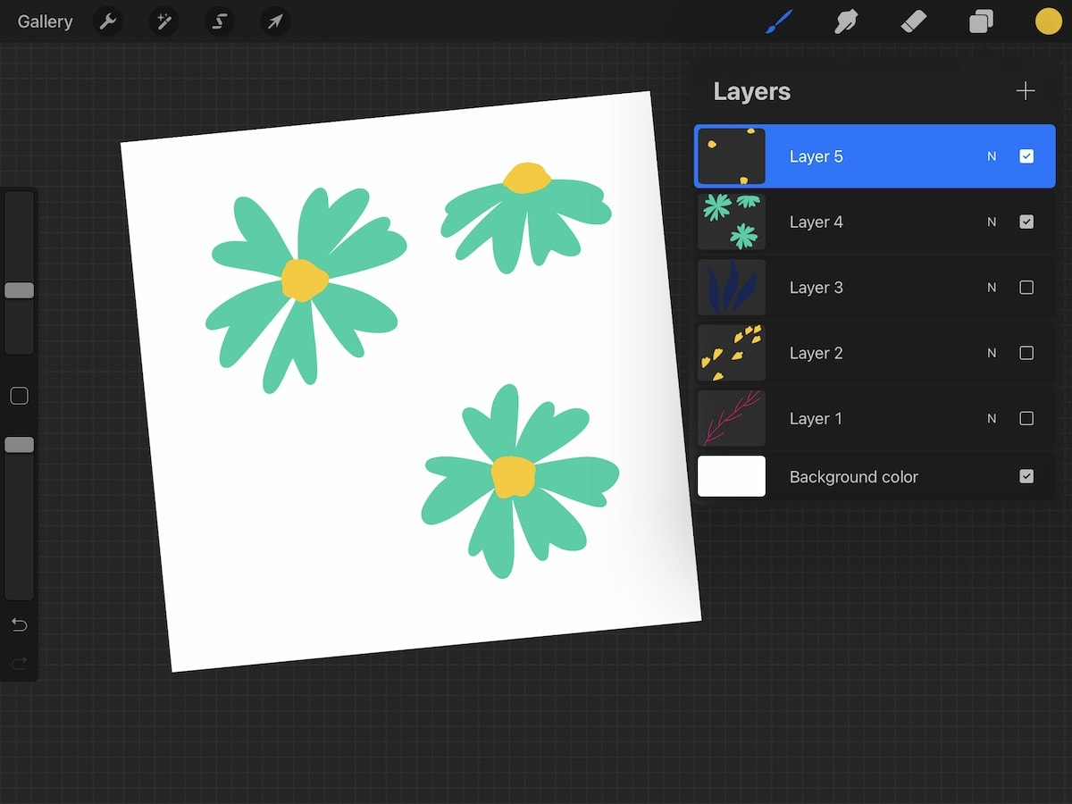 layers panel in procreate