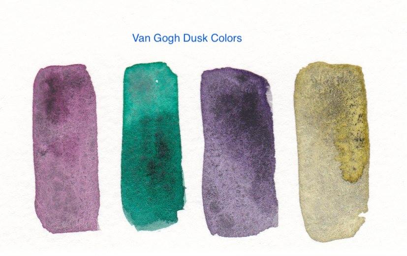 van gogh dusk watercolors swatches