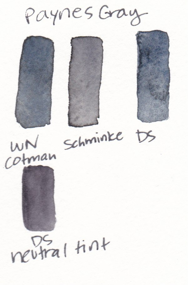black watercolor swatches