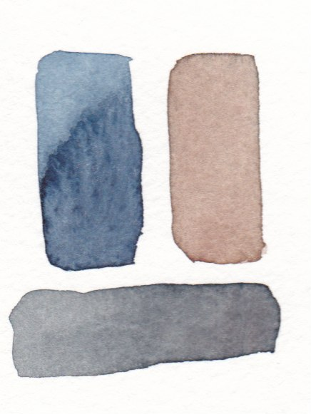 watercolor swatches making black
