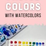 watercolor swatches with paint palette