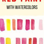 red and pink watercolor swatches