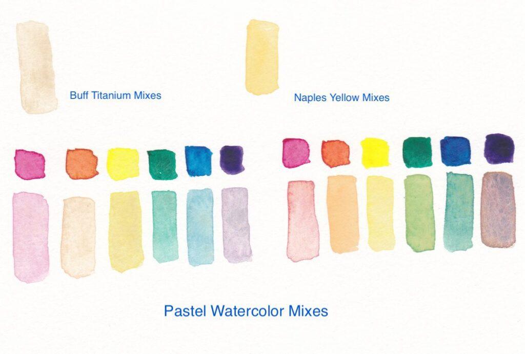 unique watercolor pastel mixtures