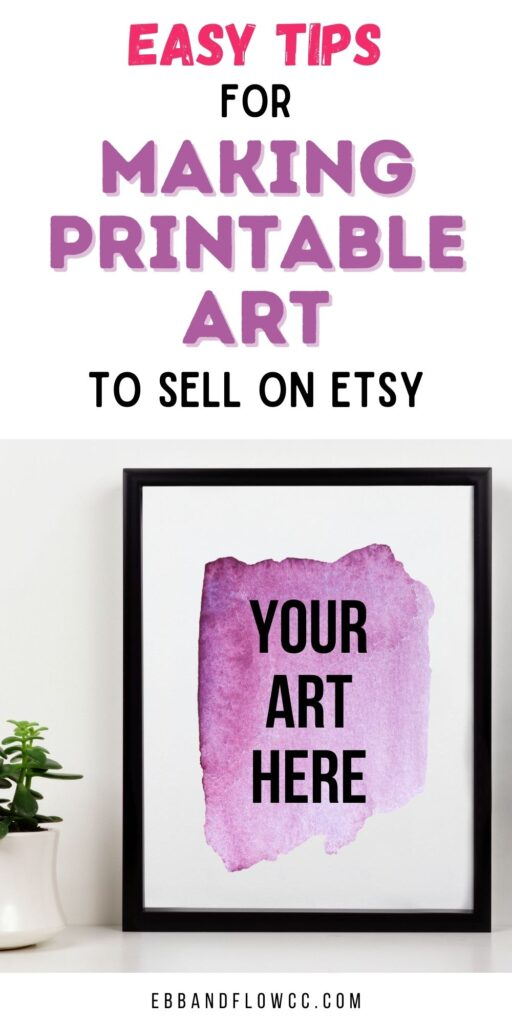 frame with purple splotch of paint
