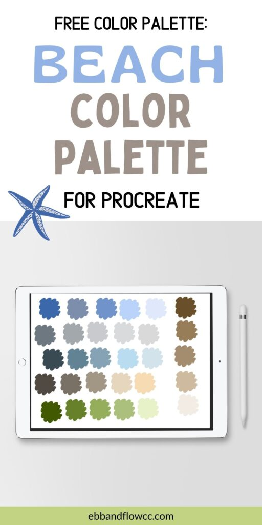 ipad with beach inspired color palette
