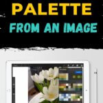 ipad with procreate screenshot of tulips in vase
