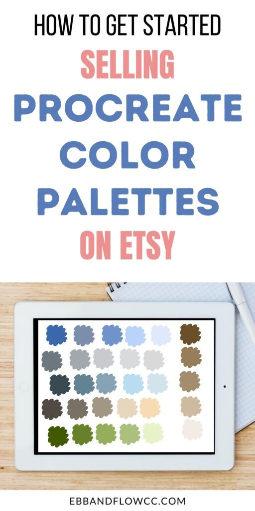 ipad with color palette swatches