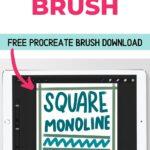 ipad with square monoline drawing