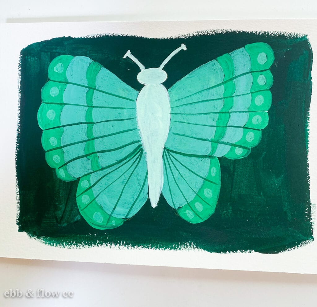 gouache butterfly