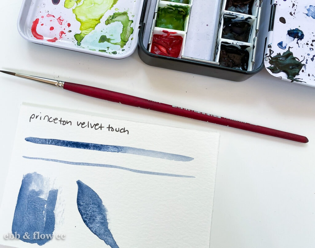 princeton velvetouch swatches of watercolor