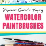 collage of watercolor palette and paintbrushes