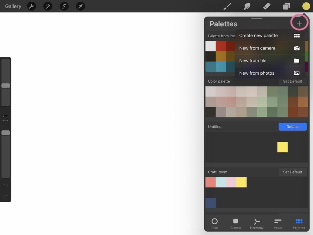 procreate color options