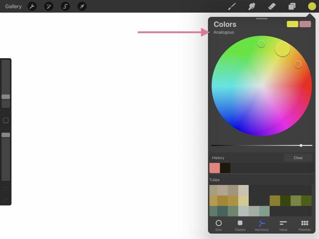analogous color palette