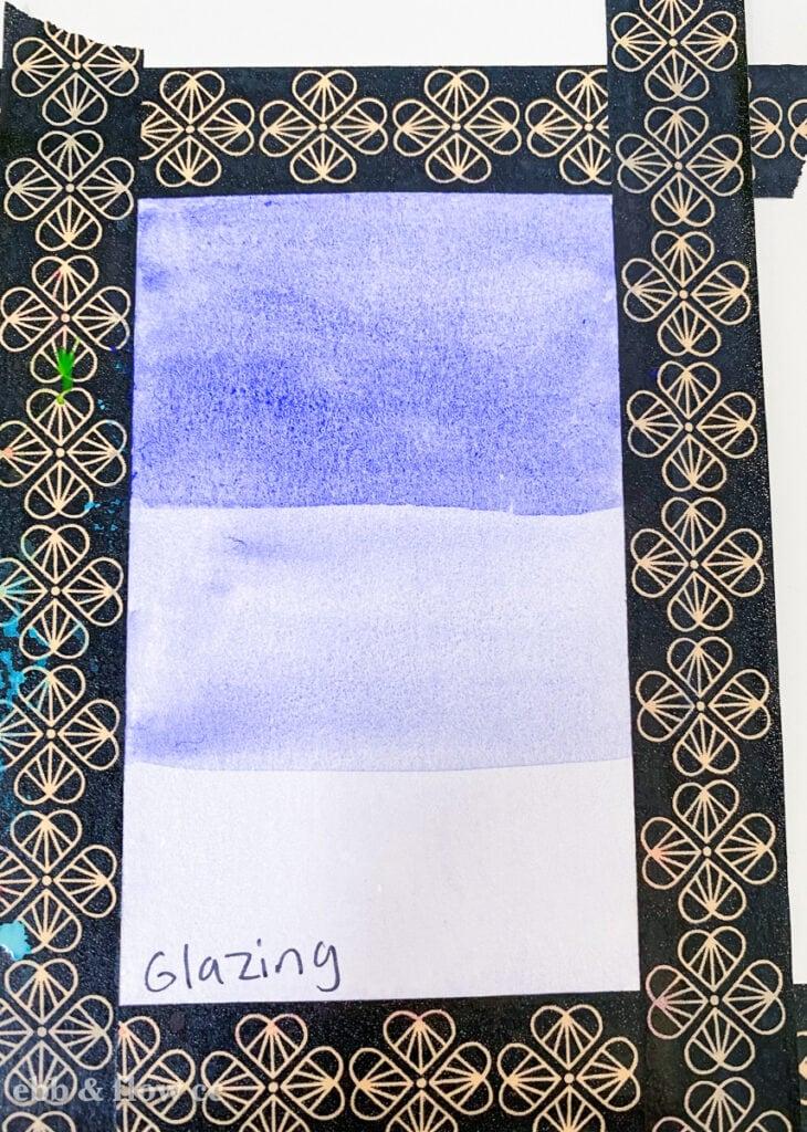 purple watercolor glazing