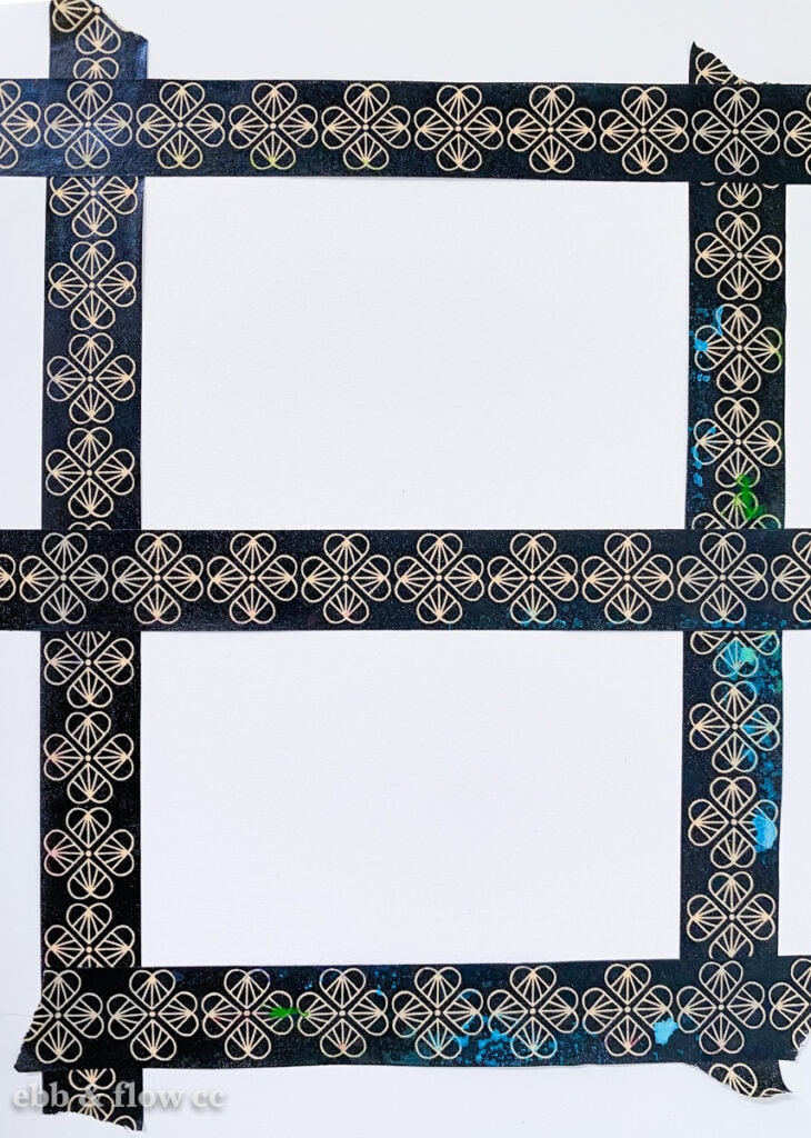 using washi tape to mask edges for watercolor painting