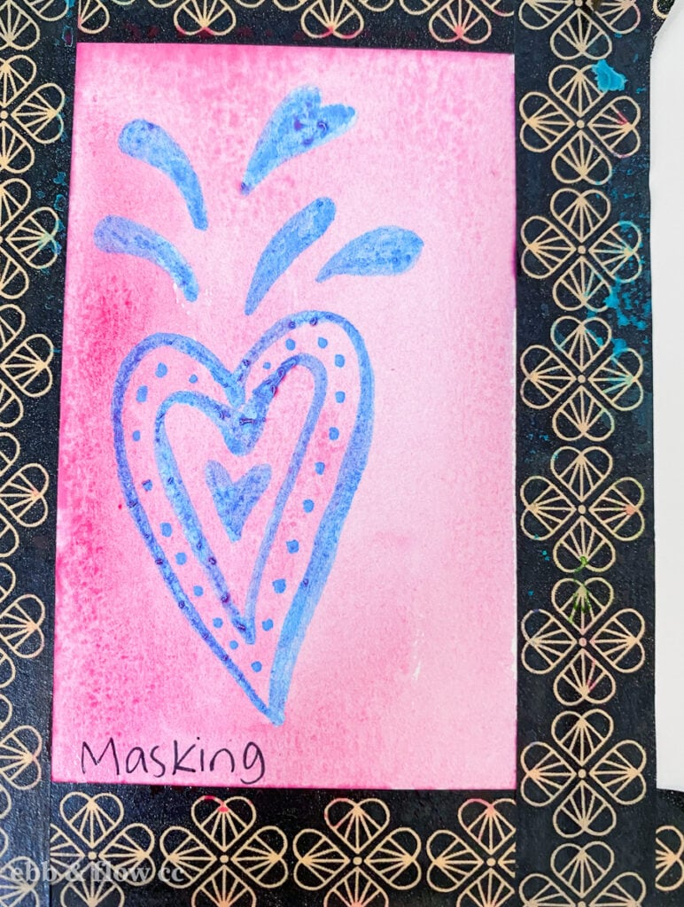 painting over masking fluid