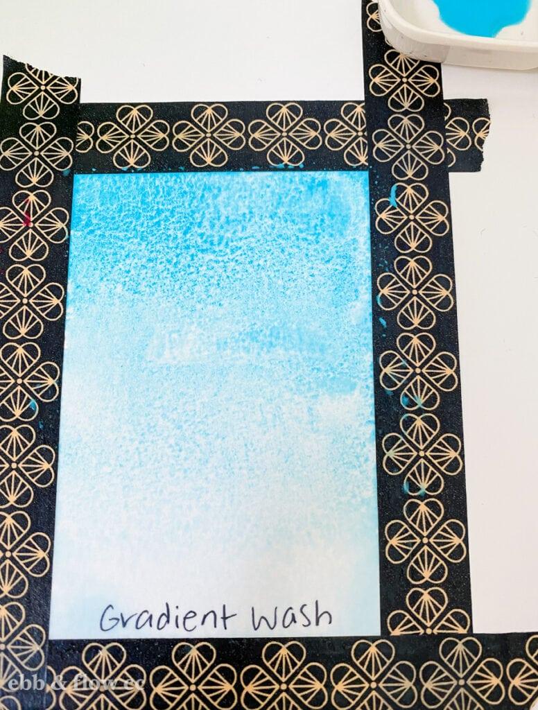 aqua gradient wash